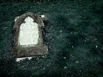 Gothic Grave stone with clear space for text stock photography