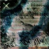 Gothic  Grunge Background Worn Look  Brown Lace Graffiti Textured Stock Photo