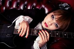 Gothic Guitar Queen Stock Image