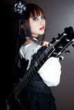 Gothic Guitar Queen Royalty Free Stock Photography