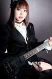 Gothic Guitar Queen Royalty Free Stock Photo