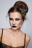 Gothic hairdo Stock Photos
