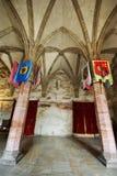 Gothic hall stock photo
