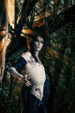 Gothic halloween. A fantasy hero in a wild desolate forest. Art project. Fantasy. Halloween Stock Photography