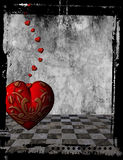 Gothic Heart background. With frame royalty free illustration