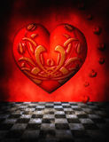 Gothic Heart background Stock Images