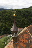 Gothic hunting Krivoklat from 12th century is one of the oldest and most significant Castles of Czech Princes and Kings, Czech Rep Royalty Free Stock Photography