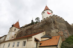 Gothic hunting Krivoklat from 12th century is one of the oldest and most significant Castles of Czech Princes and Kings, Czech Rep Royalty Free Stock Image