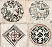 Gothic inlaid marble ornaments Royalty Free Stock Photo