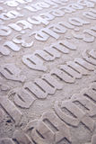 Gothic Inscriptions royalty free stock image