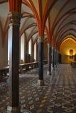 Gothic Interior with Columns. EInterior of a medieval castle of Malbork in northern Poland Stock Photos