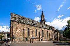 Gothic katedra Bolzano, Włochy zdjęcia royalty free