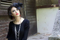 Gothic girl. Beautiful girl in a gothic inspired outfit stock photography