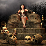Gothic Lady on a throne Royalty Free Stock Photography