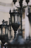 Gothic Lanterns. In front of an art gallery Stock Photos