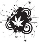 Gothic leaf. An abstract gothic style leaf design in black and white stock illustration