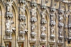 Gothic Leuven town hall royalty free stock photo
