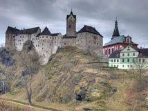 Gothic Loket castle royalty free stock images