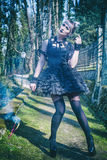 Gothic lolita. Beautiful and dark Gothic Lolita doll royalty free stock image