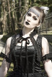 Gothic lolita. Portrait of beautiful and dark Gothic Lolita doll stock images