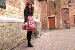 Gothic lolita street style fashion Royalty Free Stock Image