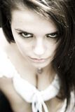 Gothic look. A teen girl model with gothic looks stock image
