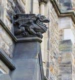 Gothic looking gargoyle Stock Photo