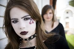 Gothic Make-up stock photography