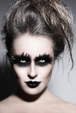 Gothic make-up Royalty Free Stock Photos