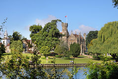 Gothic Mansion on the River Thames Stock Image