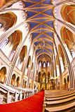 Gothic Markt Kirche in Wiesbaden from inside Stock Photography