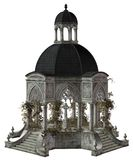 Gothic mausoleum. 3D render of a gothic mausoleum with vines royalty free illustration