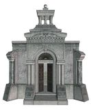 Gothic mausoleum 2. 3D render of a gothic mausoleum vector illustration