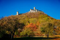 Free Gothic Medieval Castle Bezdez On The Hill In Autumn, Liberec Region, North Bohemia, Czech Republic Royalty Free Stock Images - 199497679