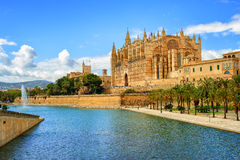 Gothic medieval cathedral of Palma de Mallorca, Spain. La Seu, the gothic medieval cathedral of Palma de Mallorca, Spain Stock Photo