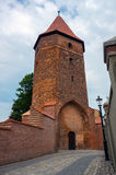 Gothic medieval tower in Lembork, Poland. Stock Photography