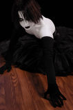 Gothic Mime Girl Stock Images
