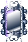 Violet Gothic mirror isolated Stock Photo