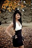Gothic Model in Woods Stock Photography