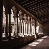Gothic monastery courtyard Royalty Free Stock Photo