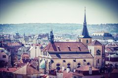 Beautiful City Prague in the middle of europe stock image