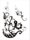 Gothic ornament. Gothic floral black silhoiette ornament stock illustration