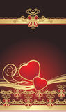 Gothic ornament with hearts. Wrapping Stock Images