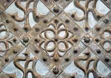 A gothic ornament of a medieval church door Royalty Free Stock Photography