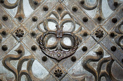 A gothic ornament of a medieval church door Royalty Free Stock Images