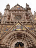 The gothic Orvieto cathedral Stock Photos