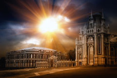 Gothic palace Stock Photo