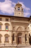 The gothic palace of the lay fraternity in Arezzo in Italy Stock Photos