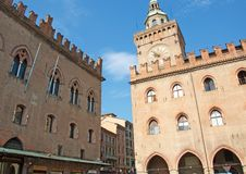 Gothic palaces in Bologna, Italy Stock Images