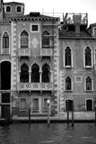 Gothic palaces on Venice's Grand Canal with beautiful elegant fenestration and Istrian stonework Stock Photography